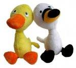 Duck & Goose Doll Pair