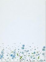 Blue Flowers Letter-perfect Stationary