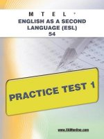 MTEL English As a Second Language (ESL) 54 Practice Test 1