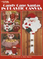 Candy Cane Santas in Plastic Canvas