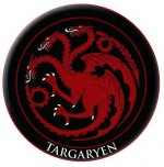 Game of Thrones Embroidered Patch: Targaryen