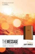 Message Deluxe Gift Bible (Leather-Look, Brown/Saddle Tan)