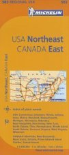 Michelin Map USA Northeast, Canada East