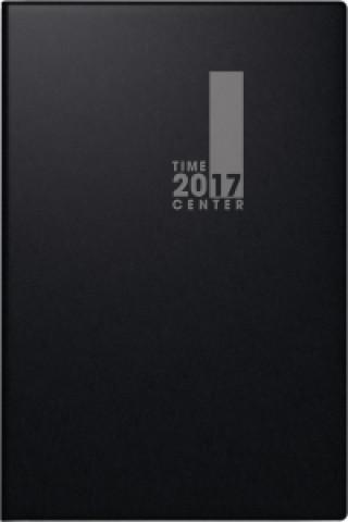 Taschenkalender TimeCenter 2017 Kunststoff schwarz. 2 Seiten 1 Woche, 100 x 140 mm