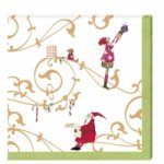 Serviette Golden Christmas