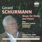 Schurmann Music for Violin and Piano