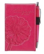 With God All Things Are Possible Lux-Leather Pocket Notepad: Pink [With Pens/Pencils]
