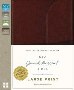 NIV, Journal the Word Bible, Large Print, Genuine Leather, Brown: Reflect, Journal, or Create Art Next to Your Favorite Verses