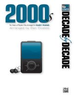 Decade by Decade 2000s: Ten Years of Popular Hits Arranged for Easy Piano