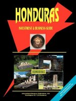 Honduras Investment and Business Guide