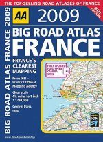 AA Big Road Atlas France 2009
