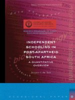 Independent Schooling in Post-Apartheid South Africa: A Quantitative Overview