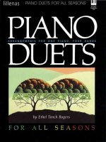 Piano Duets for All Seasons, Keyboard Book