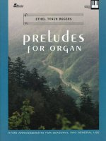 Preludes for Organ: Hymn Arrangements for Seasonal and General Use