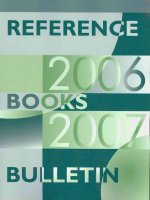 Reference Books Bulletin: A Compilation of Evaluations, September 2006 Through August 2007
