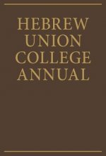 Hebrew Union College Annual Volume 38