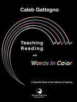 Teaching Reading with Words in Color: A Scientific Study of the Problems of Reading