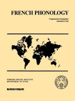French Phonology: Programmed Introduction