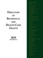 Directory of Biomedical and Health Care Grants 2010