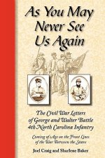 As You May Never See Us Again: The Civil War Letters of George and Walter Battle, 4th North Carolina Infantry, Coming of Age on the Front Lines of th