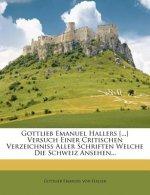 Fünfter Versuch einer critischen Verzeichnisses aller Schriften welche die Schweiz betreffen...