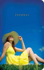 Small Elastic Closure Journal - Girl in Yellow Sundress