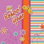 My School Year for Girls: Hardcover Scrapbooking Album W/ Plastic Sleeves