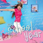 My School Year for Teen Girls: Hardcover Scrapbooking Album W/ Plastic Sleeves
