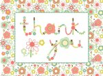 Floral Letters Thank You Cards [With 12 Envelopes]