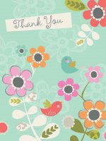 Flowers with Birds Thank You Cards [With 12 Envelopes]