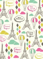 Eifel Towers Thank You Cards [With 12 Envelopes]