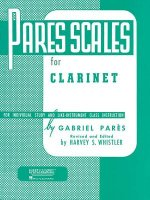 Pares Scales for Clarinet: For Individual Study and Like-Instrument Class Instruction