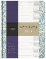 NKJV Notetaking Bible, Blue Floral