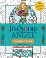 Jim Shore's Angel Coloring Book: 50+ Glorious Folk Art Angel Designs for Inspirational Coloring