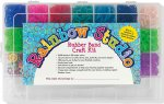 Rainbow Studio Rubber Band Craft Kit [With 3,600 Bands in 20 Colors, S-Clips, Loom Hook and 12 Charms]