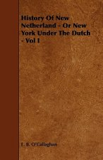 History of New Netherland - Or New York Under the Dutch - Vol I