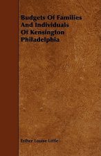 Budgets of Families and Individuals of Kensington Philadelphia
