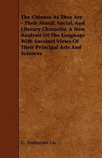 The Chinese as They Are - Their Moral, Social, and Literary Character, a New Analysis of the Language with Succinct Views of Their Principal Arts and
