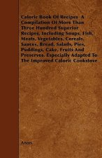 Caloric Book Of Recipes  A Compilation Of More Than Three Hundred Superior Recipes, Including Soups, Fish, Meats, Vegetables, Cereals, Sauces, Bread,