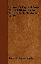 History Of England From The Fall Of Wolsey To The Death Of Elizabeth - Vol IV.