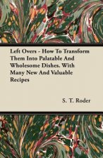 Left Overs - How To Transform Them Into Palatable And Wholesome Dishes. With Many New And Valuable Recipes
