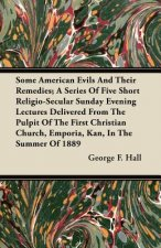 Some American Evils and Their Remedies; A Series of Five Short Religio-Secular Sunday Evening Lectures Delivered from the Pulpit of the First Christia