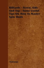 Billiards - Screw, Side and Top - Some Useful Tips on How to Master Spin Shots