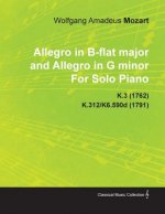 Allegro in B-Flat Major and Allegro in G Minor by Wolfgang Amadeus Mozart for Solo Piano K.3 (1762) K.312/K6.590d (1791)
