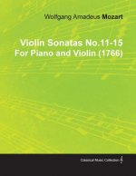 Violin Sonatas No.11-15 by Wolfgang Amadeus Mozart for Piano and Violin (1766)