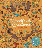 Woodland Creatures: 90 Enchanting Coloring Pages to Share