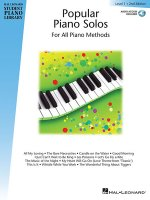 Popular Piano Solos - Level 1: Hal Leonard Student Piano Library