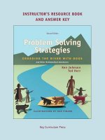 Problem Solving Strategies Instructor's Resources Book