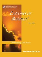 Extremes or Balance Workbook