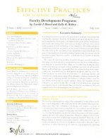 Effective Practices for Academic Leaders Volume 1 Issue 7: Faculty Development Programs